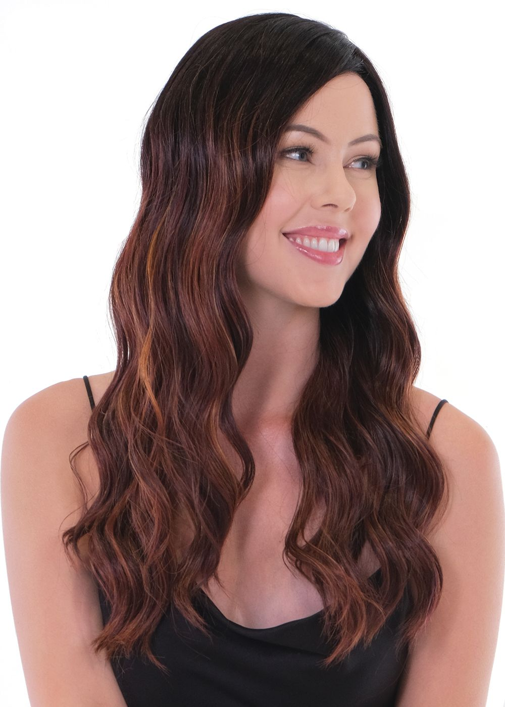 Maxwella 22 Balayage - Café Collection (Monofilament Top) by Belle Tress