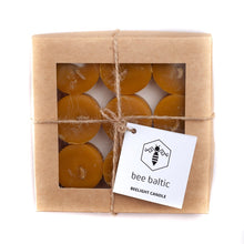 Load image into Gallery viewer, Beeswax Tea Lights in a Box by Bee Baltic