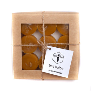 Beeswax Tea Lights in a Box by Bee Baltic