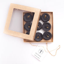 Load image into Gallery viewer, Black Beeswax Tea Lights by Bee Baltic