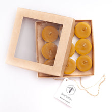 Load image into Gallery viewer, Natural Beeswax Tea Lights by Bee Baltic