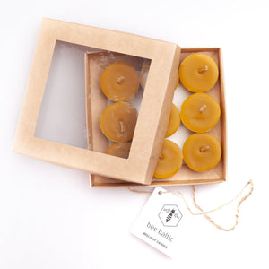 Natural Beeswax Tea Lights by Bee Baltic