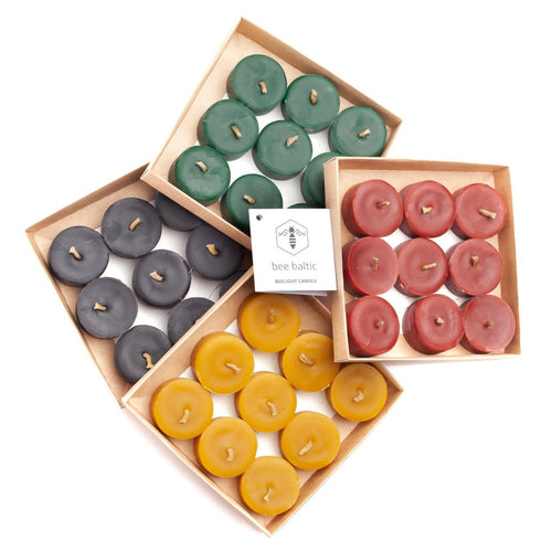 Beeswax Tea Lights by Bee Baltic