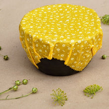 Load image into Gallery viewer, Beeswax wrap on a bowl by Bee Baltic