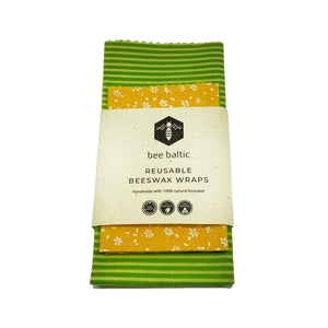 Beeswax Wraps Set of 2 by Bee Baltic