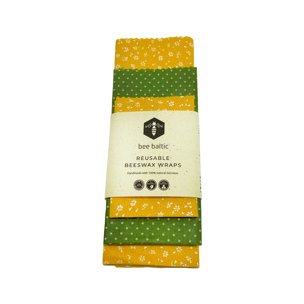 Beeswax Wraps Set of 3 by Bee Baltic