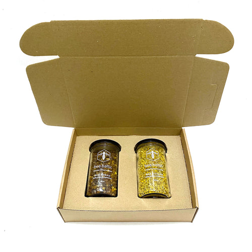 A gift box with bee pollen and bee bread by bee baltic.