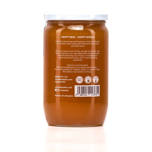 Raw Forest Honey in 1kg back by Bee Baltic