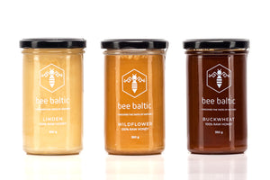 Raw Honey Selection by Bee Baltic