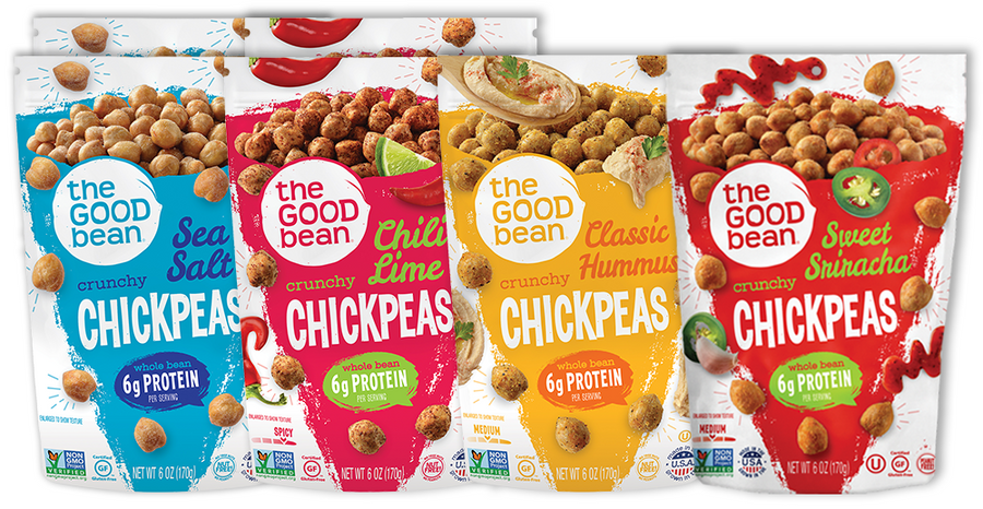 Mixed Case Crunchy Chickpeas 6oz 6pk