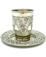 Load image into Gallery viewer, Two Piece Kiddush Cup Set with Plate (close out)