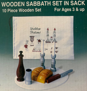Wooden Sabbath Set in Sack
