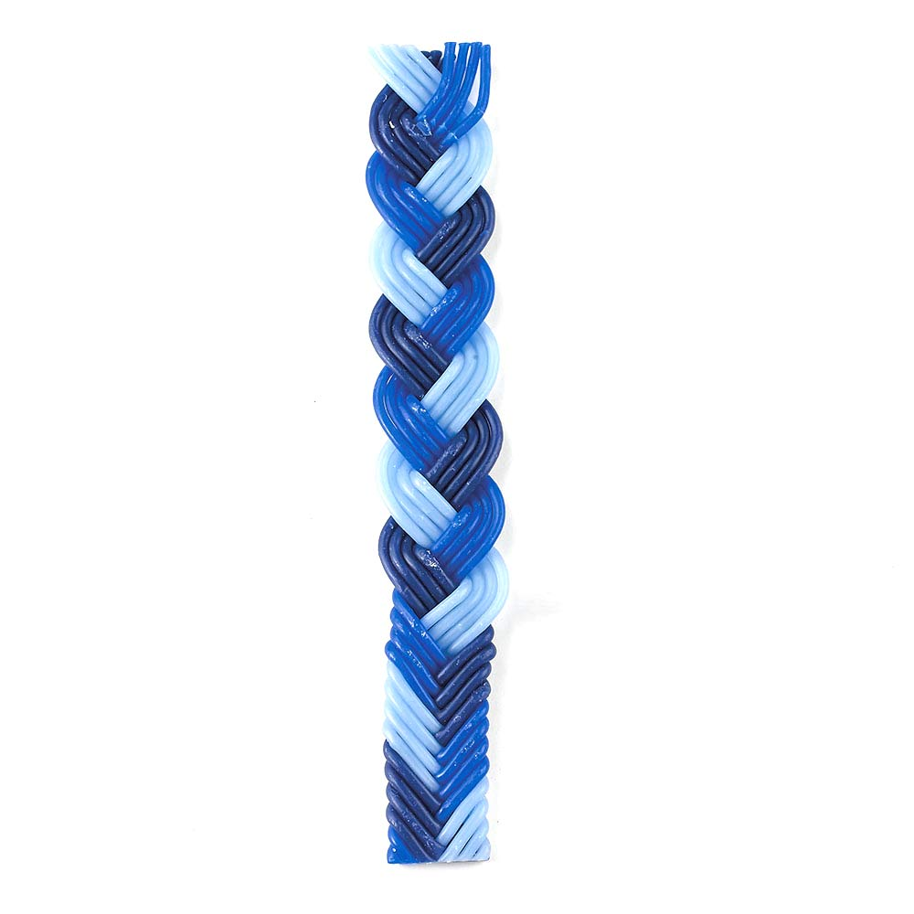 Havdalah Candle Multi Blue Beeswax