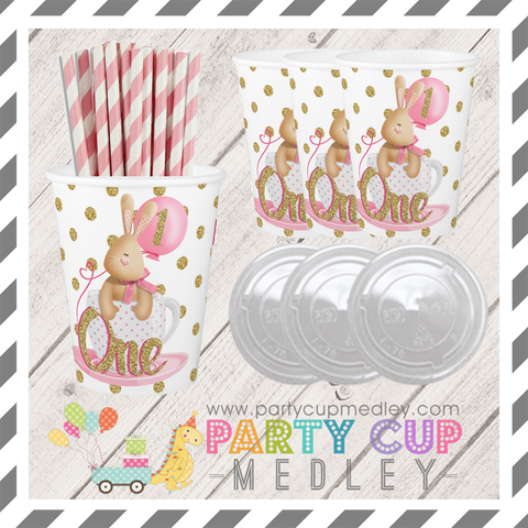 1st Birthday Party Cups