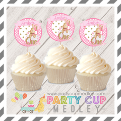 1st  Birthday Party Cupcake Toppers