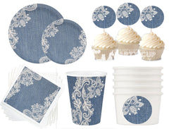 Denim and Diamonds Party Package-8 Guest