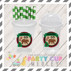 Lumberjack Birthday Party Cups Supplies