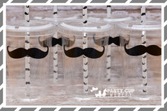 Mustache Bash Birthday Party Cups