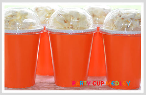 Orange Birthday Party Cups
