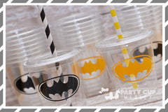 Super Hero Birthday Party Cups