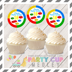 Building Blocks Birthday Party Cupcake Toppers
