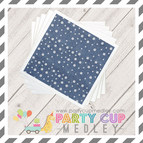 Denim and Diamonds Napkins Plates