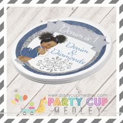 Denim and Diamond Party Plates Napkins