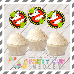 Ghostbusters Birthday Party Cupcake Toppers