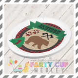 Lumberjack Birthday Party Napkins Plates