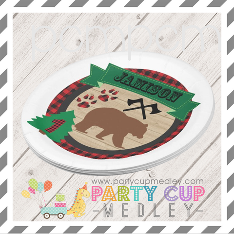 Lumberjack Party Napkins Plates