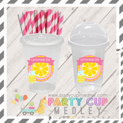 Pink Lemonade Party Birthday Party Cups