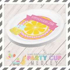 Pink Lemonade Party Napkins Plates