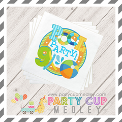 Pool Party Birthday Party Napkins Plates