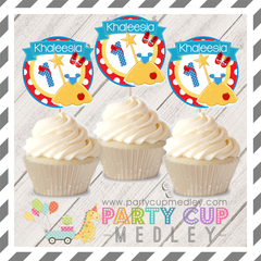 Snow White Party Cupcake Toppers