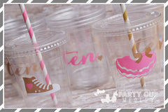Tutu Birthday Party Supplies-Pink & Gold