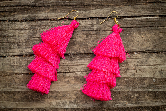 Pink Shake Earrings