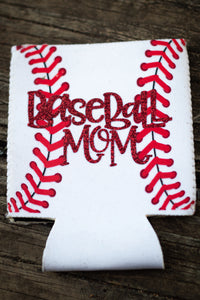 Baseball Mom Neoprene Koozie