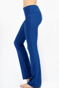 Fold Over Yoga Pants- Plus Size