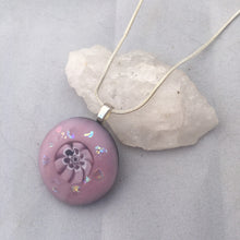 Load image into Gallery viewer, Lilac Fused Glass Pendant Necklace