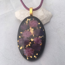 Load image into Gallery viewer, Floral Fused Glass Pendant Necklace