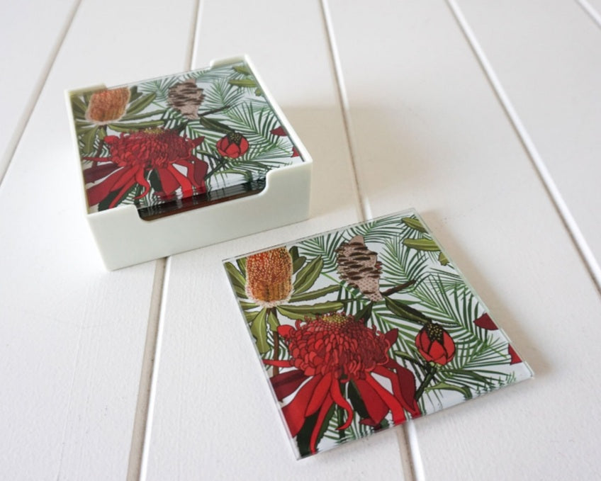Glass Coasters  - Australian Natives