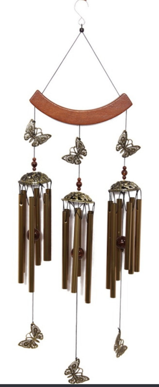 Triple Butterfly Wind chime.
