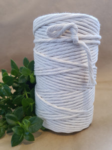 5mm Single Twist Natural Cotton Macrame Cord.
