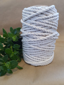 8mm Natural Cotton Macrame Cord.