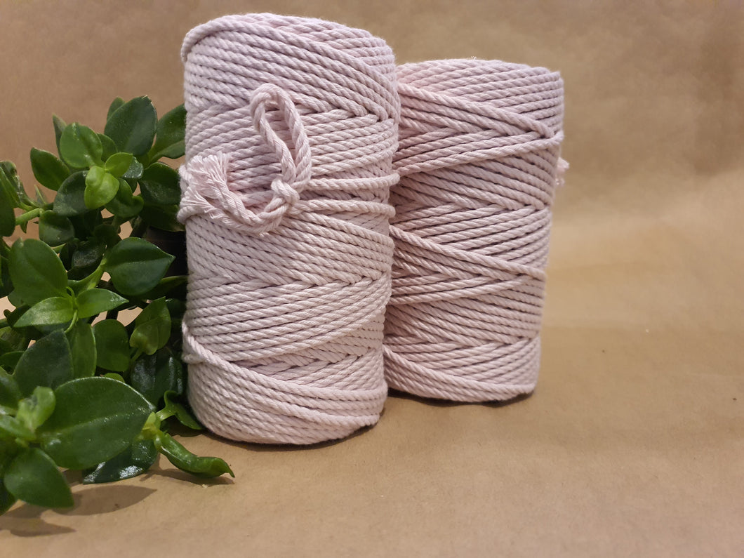 4.5mm Cotton Macrame Cord: Pastel Pink