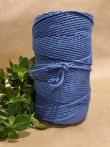 4.5mm Cotton Macrame Cord: Seamist