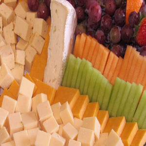 Domestic Cheese Selection With Seasonal Fresh Fruit