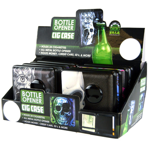 Item# 21884.  Bottle Opener Cig Case.  $480/case.  96 pcs, 12 inners of 8 pcs.  Free Shipping!