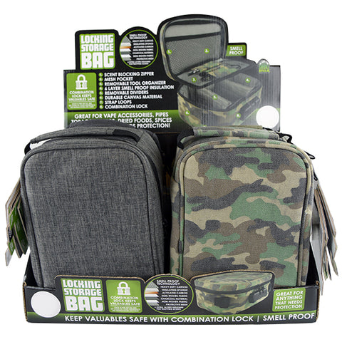 Item# 21912. Locking Storage Bag.  $40/case.  4 pcs. Free Shipping!