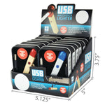 Item #22364. Match USB Lighter.  $504/case.  144 pcs, 12 inners of 12 pcs. Free Shipping!